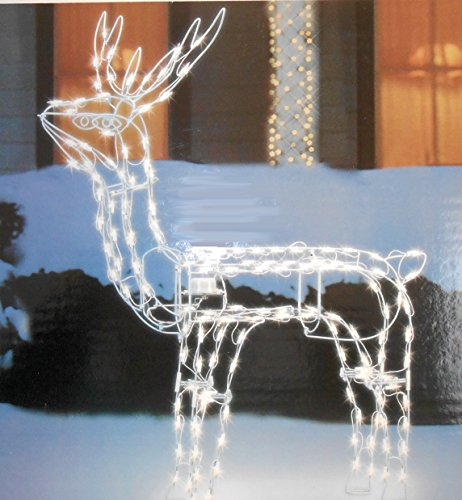 Outdoor Lighted Reindeer With Moving Head - 1