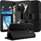 S7 Active Case, TAURI [Stand Feature] Wallet Leather Case with Card Pockets Protective Case Flip Cover For Samsung Galaxy S7 Active - Black