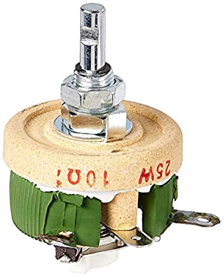 uxcell Variable Resistor High Power Ceramic Wire wound Potentiometer Rheostat