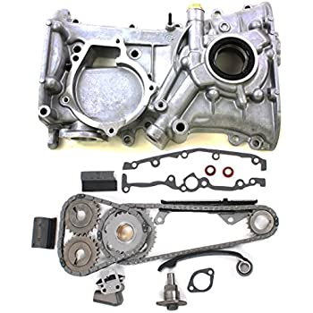 NEW TK10080OP Timing Chain Kit & Front Timing Cover w/Oil Pump and Seal for Nissan 1.6L DOHC 16-Valve Engine GA16DE (91-99) Sentra / (95-98) 200SX / (91-93) ...