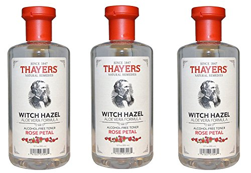 Thayers Alcohol-free gWwtqX Rose Petal Witch Hazel with Aloe Vera, 3Pack (12oz)