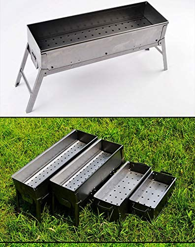 WPYST Foldable Barbecue Charcoal Grills Stainless Steel Portable Kabab Grill on Tabletop with Free Tools Accessories for Camping Cooking Picnics Patio BBQ Outdoor Party 1