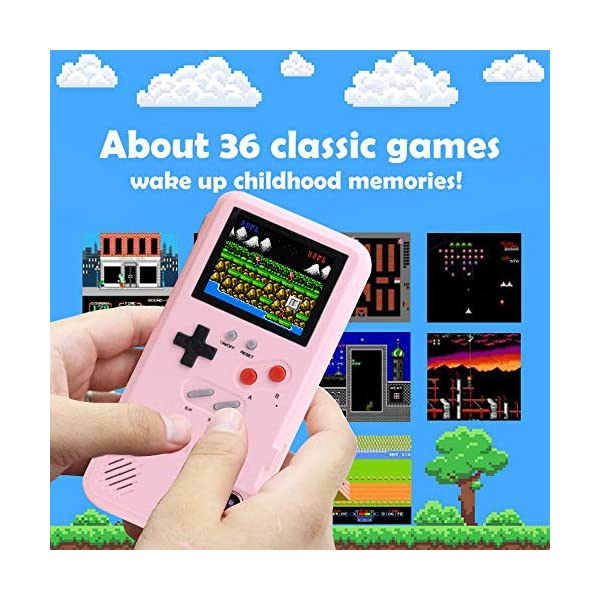 Gameboy Case For Iphone Autbye Retro 3d Phone Case Game Console With 36 Classic Game Color Display Shockproof Video Game Phone Case For Iphone For Iphone Xs Max Pink