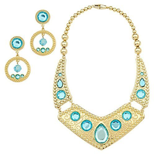 Disney Store Jasmine Necklace and Earing Set Costume 2013