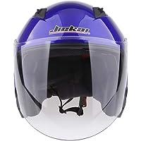 HOMYL Motorcycle Helmet 3/4 Open Face Helmet with Shield - Pick Size & Color - Matte Black M