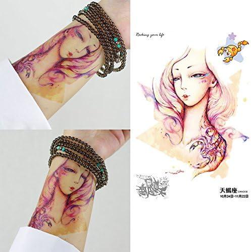 Shina color 12 Constelaciones Cartoon hombres y mujeres tatuaje ...