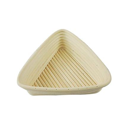 Anna-neek Cesta a Pan panera Mimbre Banneton Panificadora en Forma triángulo Pan Pasta Cuenco