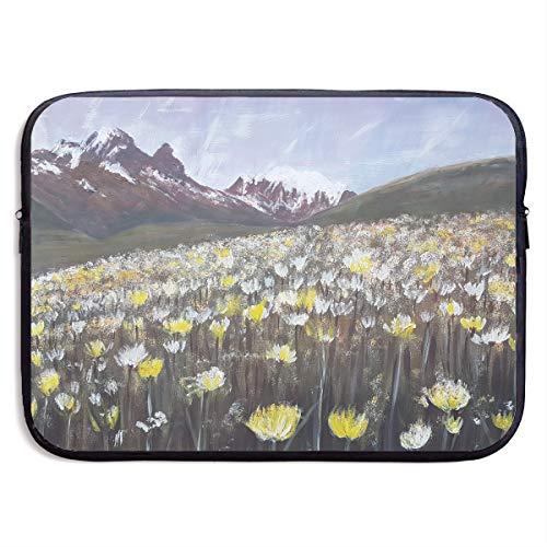 (Lovesofun Beautiful Dandelion Field Painting Waterproof Neoprene Laptop Sleeve Case - Portable Business Notebook Liner Protective Bag for MacBook Pro/MacBook Air/Asus/Dell)