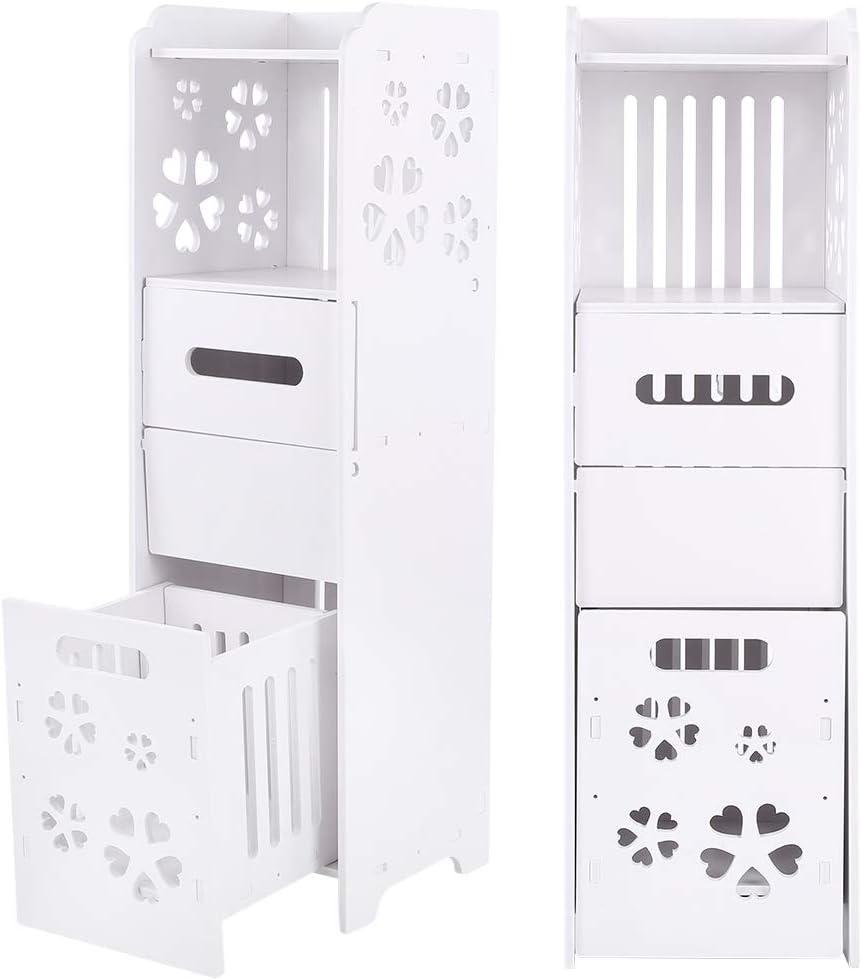 bianco mobile per bagno mobili di stoccaggio impermeabili corridoio Armadietto da bagno in legno di plastica 23,5 x 23 x 80 cm per camera da letto bagno