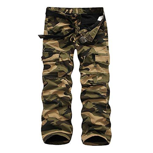Roludom Men's Woodland Winter Fleece Lined Camouflage Cargo - Woodland Boxers Camouflage