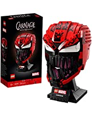LEGO 76199 Marvel Spider-Man Carnage Mask Building Set for Adults, Collectible Display Model Gift Idea