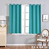 BalsaCircle 52 x 64-Inch Turquoise Polyester Blackout Window Drapes Curtains 2 Panels – Home Party Wedding Ceremony Decorations Review