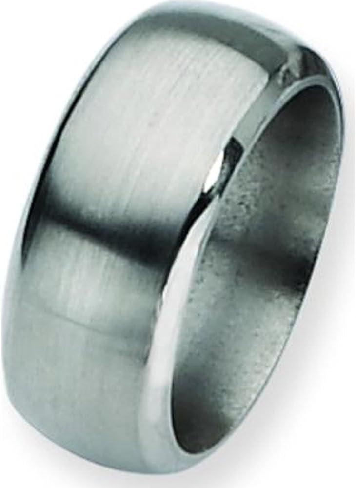 Titanium 10mm Satin Mens Wedding Ring Band Size 9.5