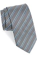 "Boss Hugo Boss Woven Stripe Italian Silk Tie, Medium Grey 3"" (7.5 CM) 50286470"