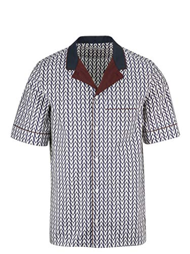 Valentino Men's Rv3aa768kmaaf9 White Cotton Shirt
