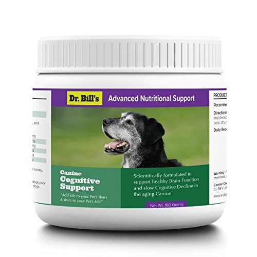 Dr. Bill's Canine Cognitive Support - Healthy Brain Function for your dog, Preserve Memory, Improve Mood, and Reduce Stress - Ginkgo Biloba, DHA, L-Carnosine, Vitamin B12, L-Glutamine, and L-Tyrosine