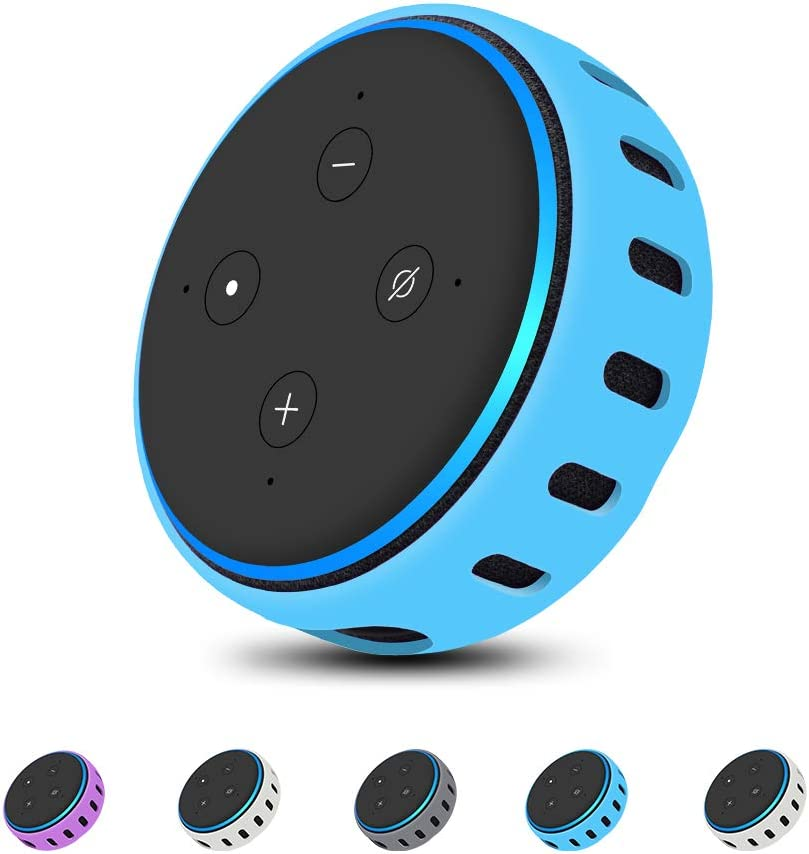 Smart Speaker,Dot 3 Gen Personalized Silicone Protective Case Cover Skin Sleeve for All-New Alexa Echo Dot Shockproof Table Holder Stand Accessories Glow in The Dark 3rd Generation Ultra Light