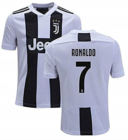 low priced 32f56 ef103 Fanatic Cristiano Ronaldo Juventus #7 Men's Soccer Jersey Home Short Sleeve  Adult Sizes