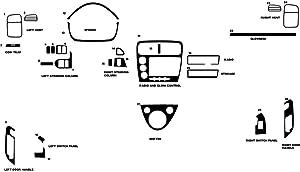 Rdash Dash Kit Decal Trim for Honda Civic 2002-2005 (Si) - Camouflage (Red)