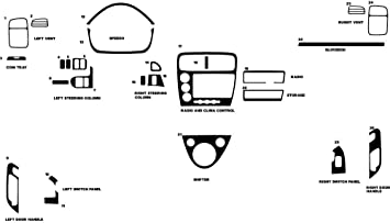 Red Si - Carbon Fiber 3D Rdash Dash Kit Decal Trim for Honda Civic 2002-2005