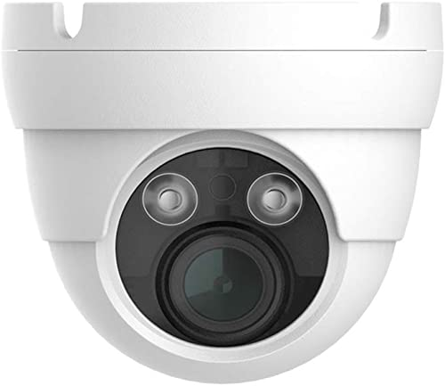 HDView 5MP Megapixel HD IP Network Camera H.265 4X Optical Zoom Motorized 2.8-12mm Lens PoE Outdoor Indoor Digital WDR Wide Dynamic Range 3-Axis Angle IR Infrared Dome