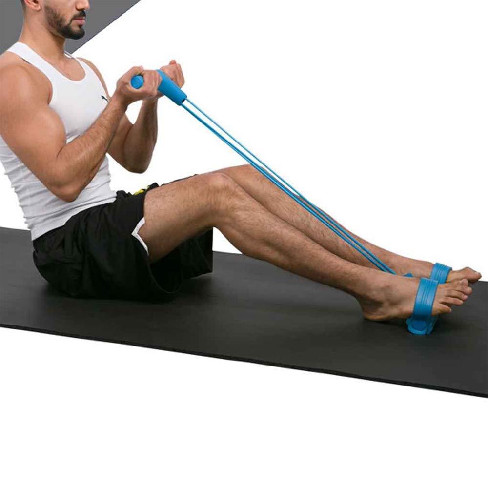 cuerda de tracci/ón para yoga bandas de resistencia para el ejercicio en casa y el gimnasio fitness expansi/ón pedal Cuerda para ejercitar piernas culturismo 4 tubos multifunci/ón morado