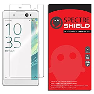Sony Xperia XA Ultra Screen Protector by Spectre Shield Full Coverage Invisible HD Clear Anti-Bubble Anti-Scratch Film