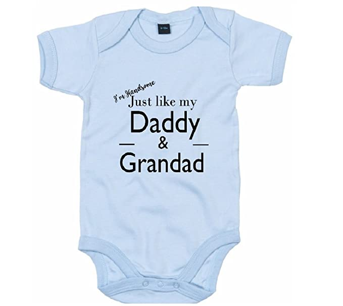 855d206c0 Image Unavailable. Image not available for. Color: Baby Onesie Co The I'm  Handsome just Like My Daddy ...