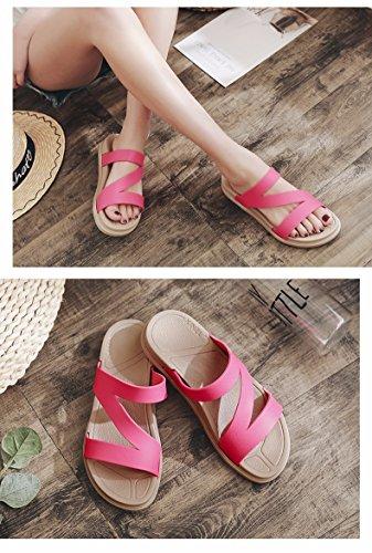 Marea estate inferiore aperto all' nuove pantofole XZ a Lady estate versione spessore scarpe LIUXINDA prova pantofole red antiscivolo moda spiaggia trascinare coreana Fq5Snngf