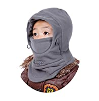Children's Winter Windproof Cap Thick Warm Face Cover Adjustable Ski Hat