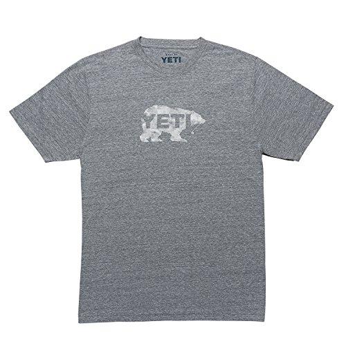 YETI Men's Salmon On The Fly Short Sleeve T-Shirt, Gray Heather, XXL