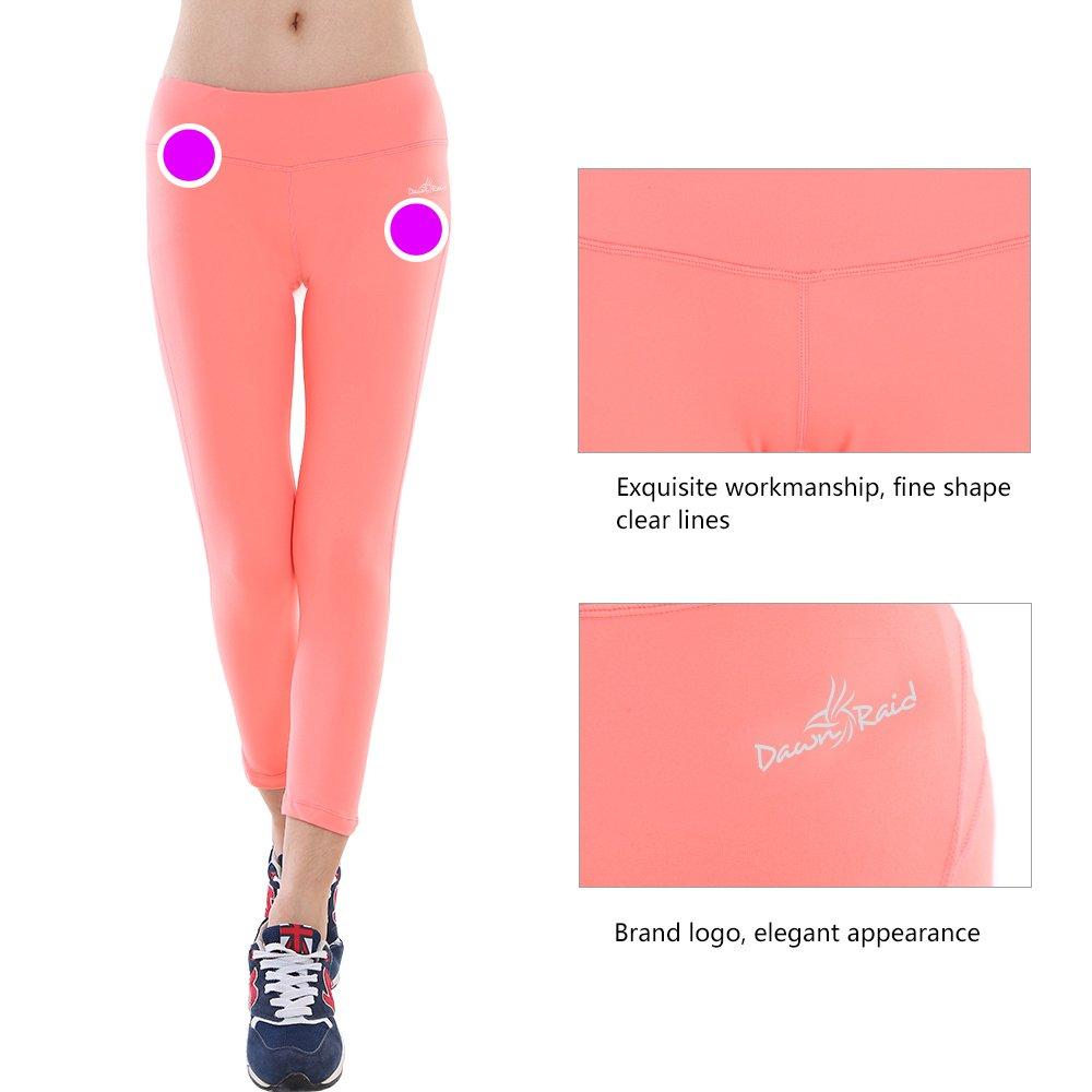 Yoga Pants Running Tights Women Coral Leggings Capri Summer Leggings XL