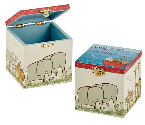 AT001 Set of 2 Noah's Ark Keepsake Box