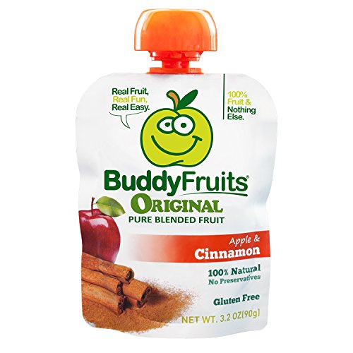 (Buddy Fruits Pure Blended Fruit To Go, Apple and Cinnamon, 3.2 Ounce Packages (Pack of 18))