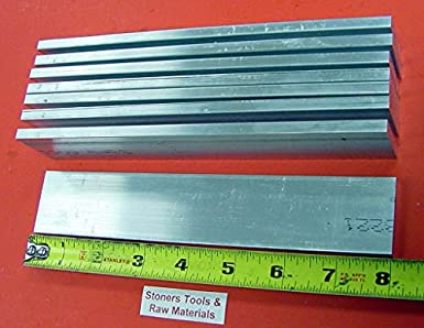 4 pieces of 1//4 X 1 ALUMINUM 6061 T6511 SOLID FLAT BAR 12 long New Mill Stock