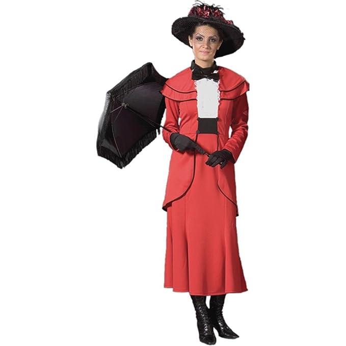 Amazon.com: Deluxe Rojo inglés Nanny disfraz: Clothing