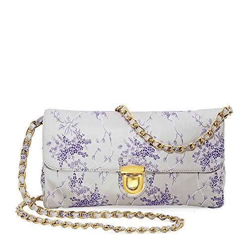 Prada Nylon Shoulder Bag- White/Lavender
