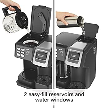 Hamilton Beach (49976) Coffee Maker, Single Serve & Full Coffee Pot, For Use With K Cups Or Ground Coffee, Programmable, Flexbrew 4