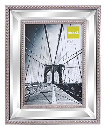 irrored Picture Frame, 5 by 7 Inch, Champagne ()