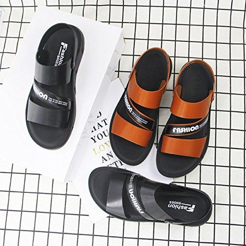 Sandales Microfibre Tendance De Été Respirant Hommes Ensembles Jeunesse Pantoufles Chaussures Plage pour Yellow Sandales Occasionnels wxqRzABWan