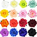 DRESHOW Flower Hair Clip Rose Hairpin Floral Brooch Floral Hair Clips for Women Rose Hair Accessories Wedding Pack 5/16