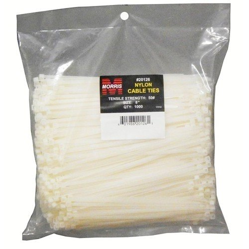 Morris 20120 40LB Tensile Strength Nylon Cable Tie, 8-Inch Length, 1000-Pack by Morris