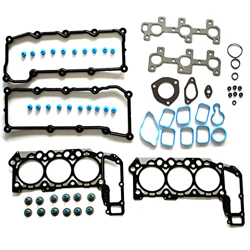 SCITOO Head Gasket Set Replacement for Dodge Dakota/Durango/Ram 1500 Jeep Grand Cherokee/Liberty 3.7L V6 SOHC 12V VIN K 2002-2005 Head Gaskets Kit ()