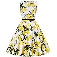 GRACE KARIN Boatneck Sleeveless Vintage Tea Dress Belt