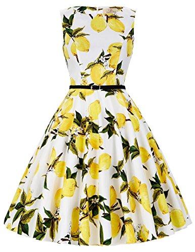 GRACE KARIN Boatneck Sleeveless Vintage Tea Dress with Belt – The Super Cheap