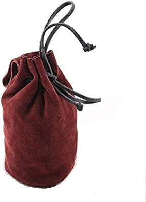 Mythrojan Drawstring Belt Pouch Renaissance Costume Accessories Medieval Jewelry Pouch DnD Dice bag Pirate Hip Pouch Larp Waist Bag Cosplay Coin Purse Pouch Bag