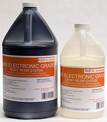 MAX ELECTRONIC GRADE Epoxy Resin System - 3/4 Gallon Kit For Electrical Insulation, Electronic Potting, Encapsulating, Waterproffing, Masking Sealant, Circuit Board, Induction Coil