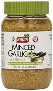 Badia Spices inc Spice, Minced Garlic/Oil, 16-Ounce (Pack of 6)
