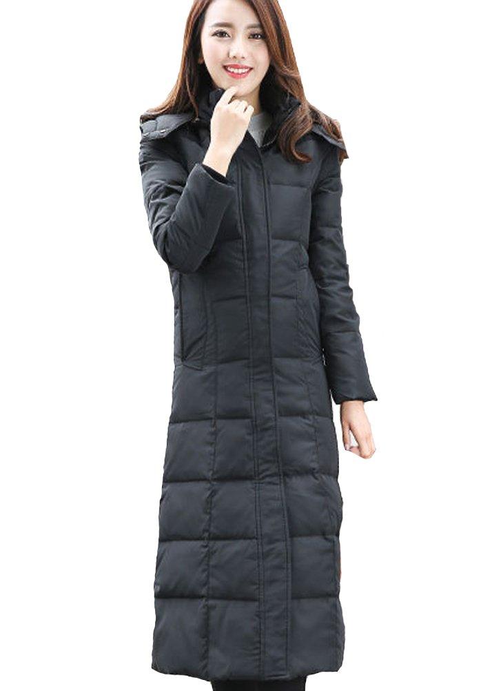 Queenshiny® Damen Frauen Lang Daunenjacke Mantel Mit Kapuze