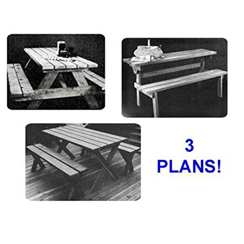 (Woodworking Project Paper Plan to Build Picnic Table Value Pack of)